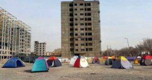 در پی افزایش اجاره مسکن، تعدادی از مستاجران در همدان چادرشین شدند