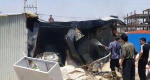 دوکشته و دو مصدوم در آتش سوزی کانکس زلزله زدگان سرپل ذهاب