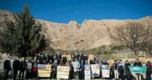 اعتراض فعالین مدنی کرمانشاه به ساخت پروژه تلهکابین تاقبستان